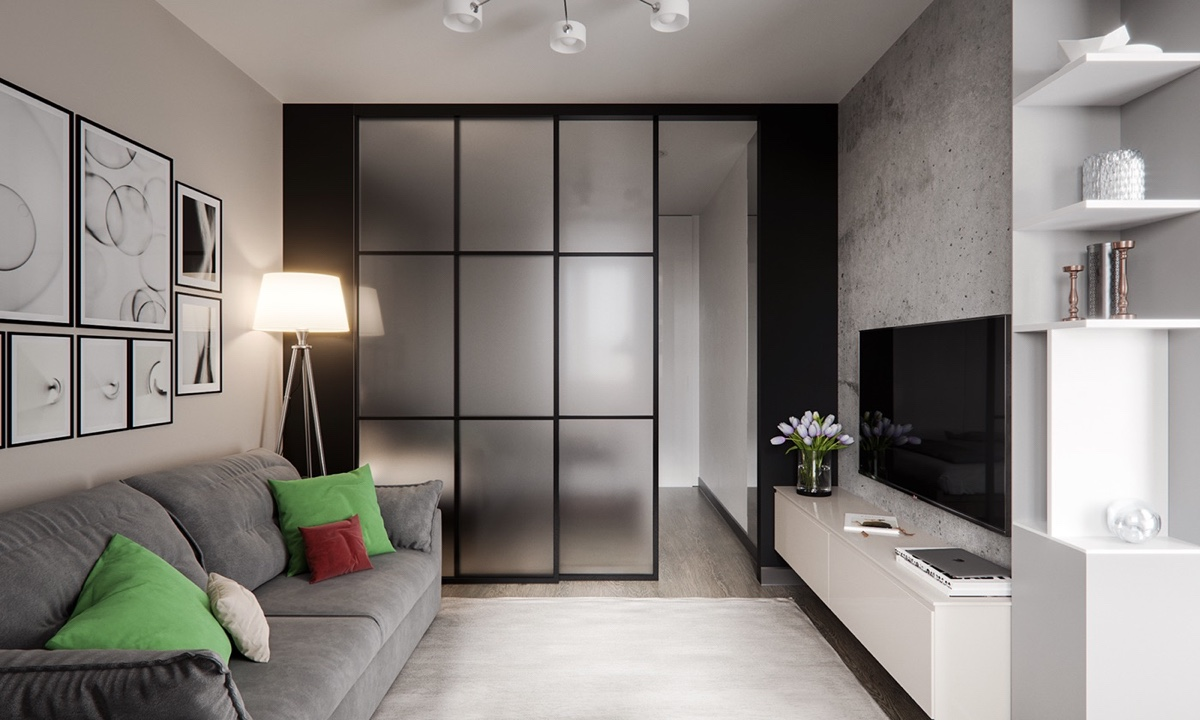 3 Modern Studio Apartments With GlassWalled Bedrooms