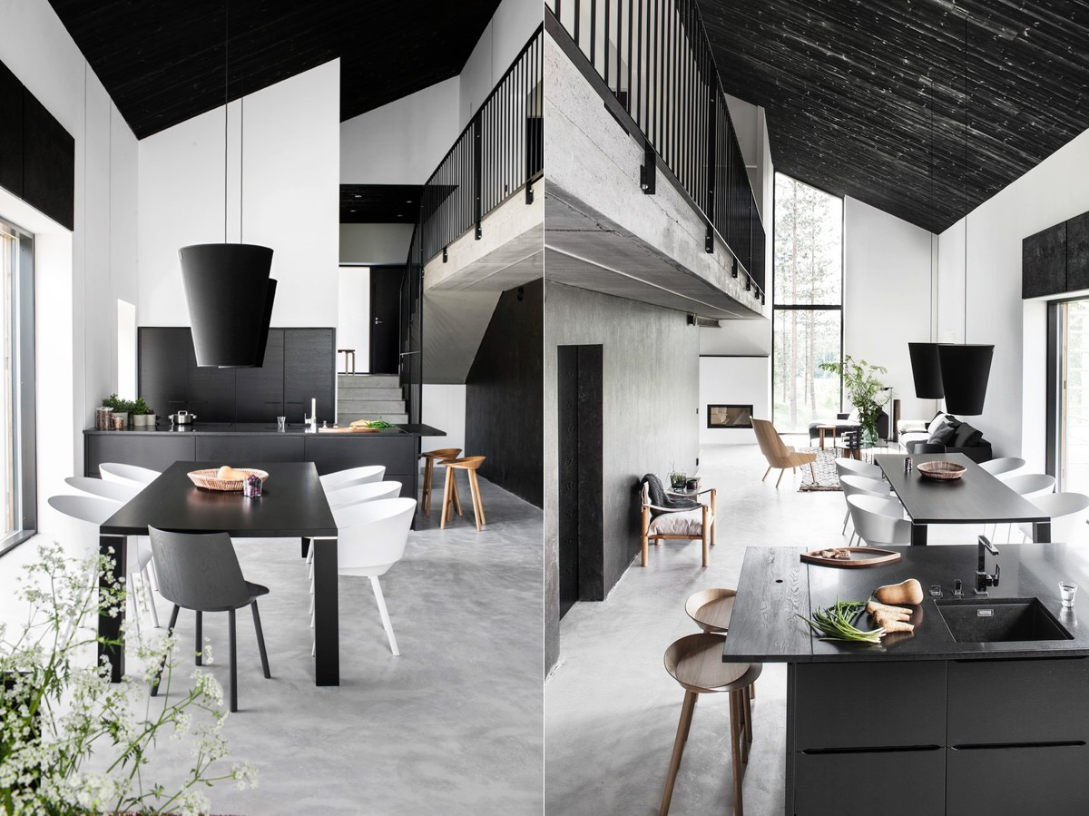 living room interior design ideas with dining table wall art uk 30 black white rooms that work their monochrome magic