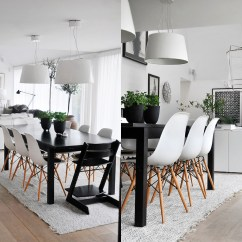 Black White Dining Chair Cvs Shower With Bench 30 And Rooms That Work Their Monochrome Magic
