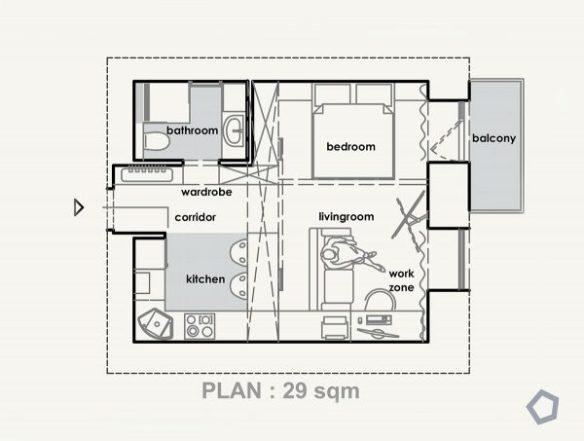5 Studio Apartments that Use Space Splendidly | Free Autocad ...