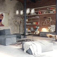 Industrial Style Living Room Furniture Value City Packages Design The Essential Guide 13 Visualizer Algimantas Raubiska