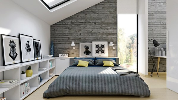 industrial grey bedroom Industrial Style Bedroom Design: The Essential Guide