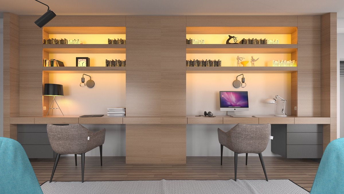 Home Office For Two People 36 Inspirational Home Office Workspaces That Feature 2 Person Desks