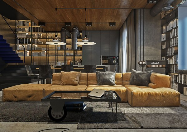 industrial design living room furniture HOME DESIGNING: Industrial Style Living Room Design: The Essential Guide - Contemporary