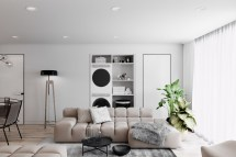 2 Simple Modern Homes With Furnishings