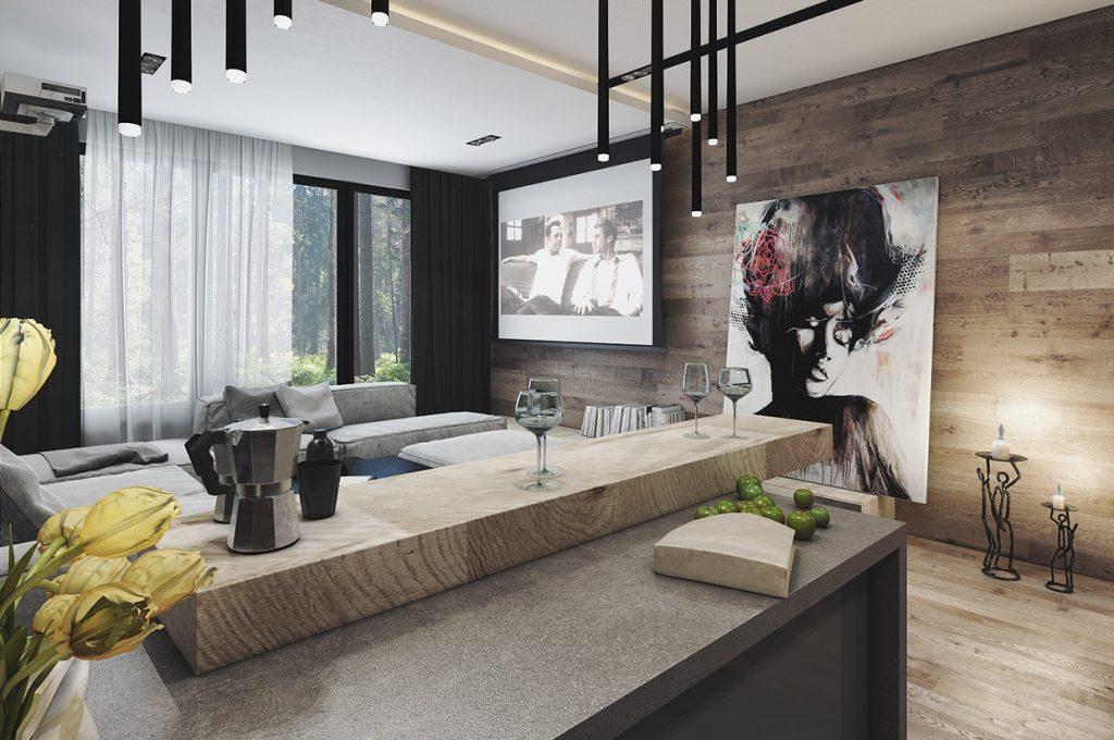 4 Interiors Where Wood And Concrete Meet