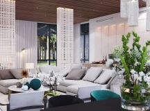 Interesting Light Wood Accents and Furnishings Add Sophistication and Simplicity