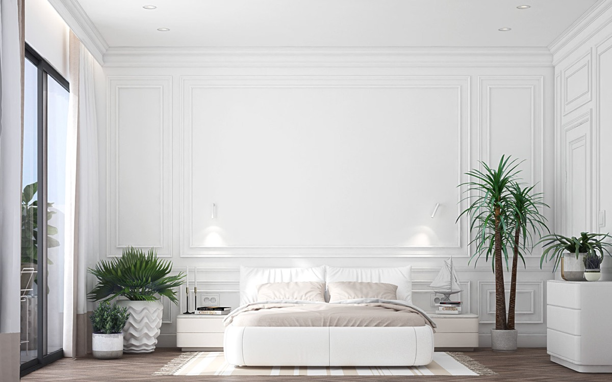 32 white bedrooms that