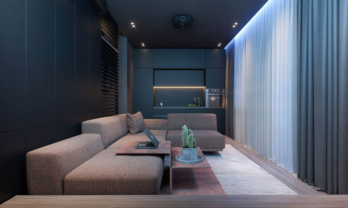 modern sofa designs for living room ideas pictures dark moody bachelor pad design: 2 single bedroom l-shaped ...