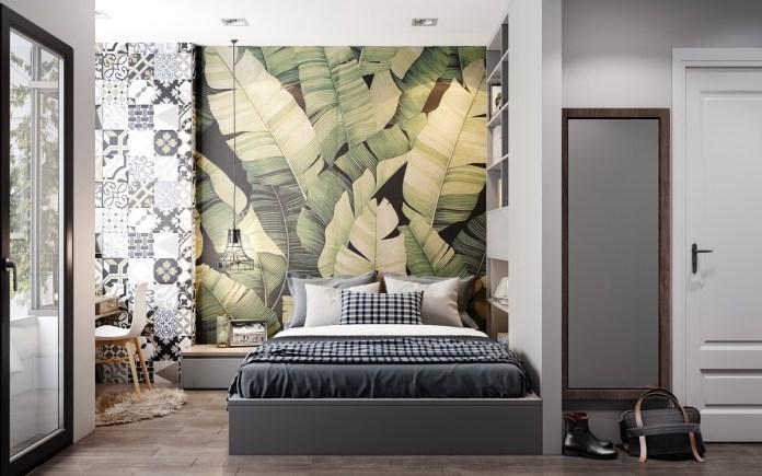 Image result for room wallpaper one side