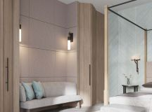 A Luxurious Home Interior with Pretty, Muted Pastel Colors images 32