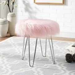 Pink Vanity Chair Under Table Tray 50 Beautiful Chairs Stools To Add Elegance Your Dressing Buy It Girls Faux Fur