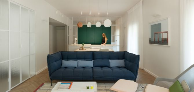 Bauhaus Style Home with Interior Glass Walls