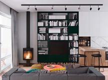 Unusual Home Layout with Creative Accent Colours images 3