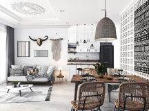 Modern Monochrome Tribal Decor images 17