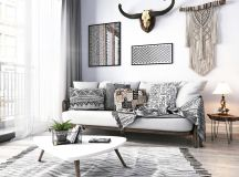 Modern Monochrome Tribal Decor images 18