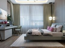 2 Single Bedroom Homes With Warming Wood Tones images 8
