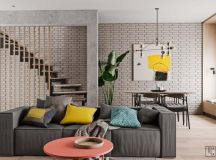 Unusual Home Layout with Creative Accent Colours