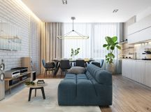 2 Single Bedroom Homes With Warming Wood Tones images 1