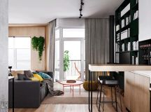Unusual Home Layout with Creative Accent Colours images 1