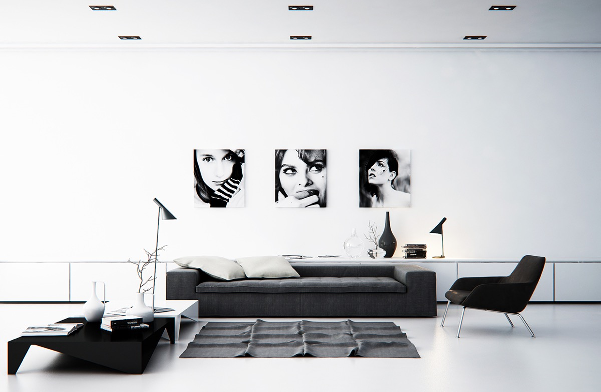 living room pictures black and white home theater 40 gorgeously minimalist rooms that find substance in simplicity 17