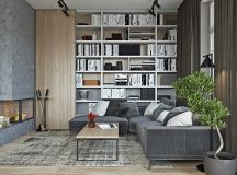 40 Stylish Living Rooms That Use Concrete To Stand Out images 13