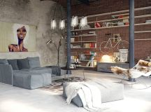 40 Stylish Living Rooms That Use Concrete To Stand Out images 22