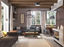 40 Stylish Living Rooms That Use Concrete To Stand Out images 23