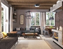 Stylish Living Rooms Concrete Stand