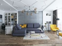 40 Stylish Living Rooms That Use Concrete To Stand Out images 28