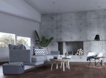 40 Stylish Living Rooms That Use Concrete To Stand Out images 10