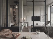 40 Stylish Living Rooms That Use Concrete To Stand Out images 19