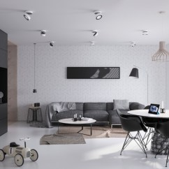 Modern Minimalist Living Room Funky Wallpaper 40 Gorgeously Rooms That Find Substance In Simplicity 36 Visualizer Architektura Design