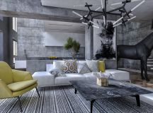 40 Stylish Living Rooms That Use Concrete To Stand Out images 7
