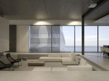 40 Stylish Living Rooms That Use Concrete To Stand Out images 25