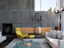 40 Stylish Living Rooms That Use Concrete To Stand Out images 27