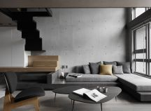 40 Stylish Living Rooms That Use Concrete To Stand Out images 2