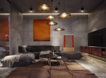 40 Stylish Living Rooms That Use Concrete To Stand Out images 8