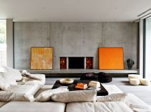 40 Stylish Living Rooms That Use Concrete To Stand Out images 4