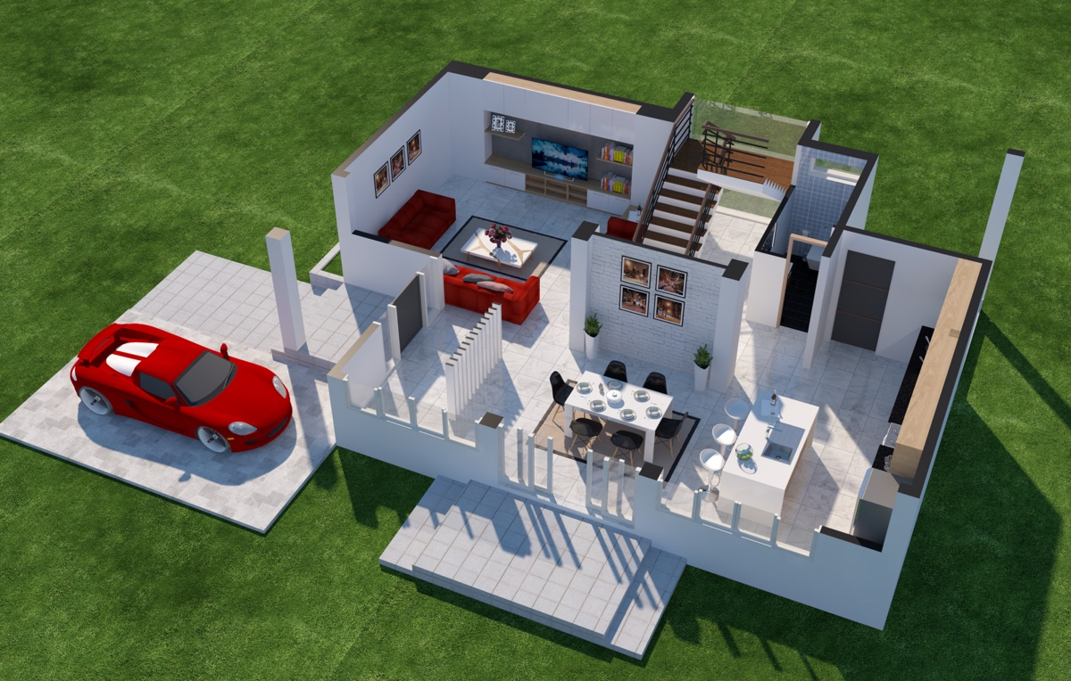 Incredible! Cool Service Alert: A 3D Floor Plan Design Service From Home Designing!