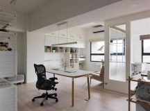 Completely White Apartment With Dominant Central Home Office images 10