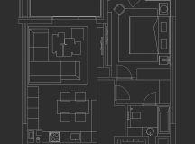 Using Dark Color Schemes For Small Homes: 3 Examples With Floor Plans images 15