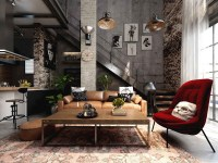 Rich Industrial Style Unites Jewel Colours with Exposed ...