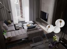 Using Dark Color Schemes For Small Homes: 3 Examples With Floor Plans images 0