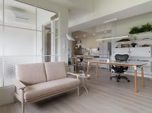 Completely White Apartment With Dominant Central Home Office images 4