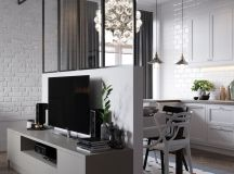 A Scandinavian Chic Style 3 Bedroom Apartment For A Young Family images 5