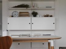 Completely White Apartment With Dominant Central Home Office images 19