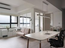 Completely White Apartment With Dominant Central Home Office images 5