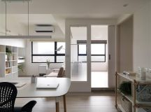 Completely White Apartment With Dominant Central Home Office images 11