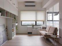 Completely White Apartment With Dominant Central Home Office images 0